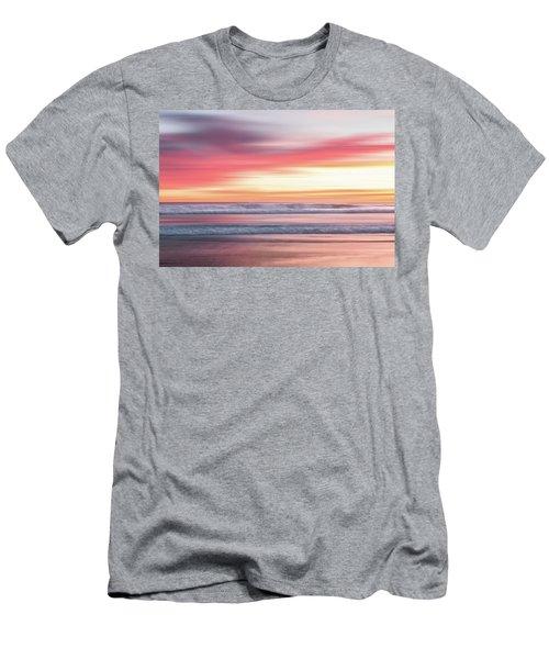Sunset Blur - Pink Men's T-Shirt (Athletic Fit)