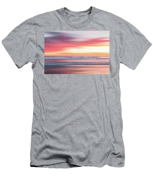 Sunset Blur - Pink Men's T-Shirt (Athletic Fit)