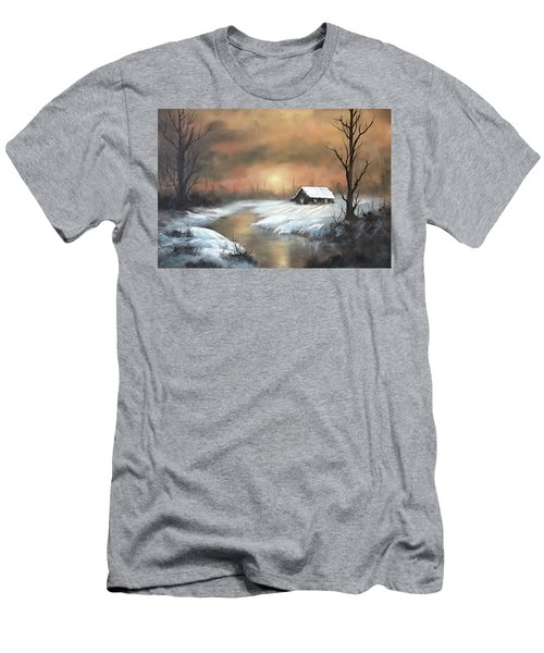 Sunset Cabin  Men's T-Shirt (Athletic Fit)