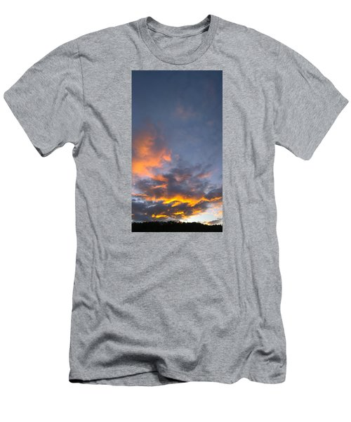 Men's T-Shirt (Slim Fit) featuring the photograph Sunset Cloud Scape Over Bryson City Nc by Kelly Hazel