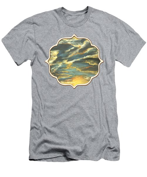 Men's T-Shirt (Athletic Fit) featuring the painting Sunset Clouds by Anastasiya Malakhova