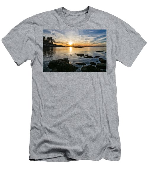 Men's T-Shirt (Athletic Fit) featuring the photograph Sunset Cove Gloucester by Michael Hubley
