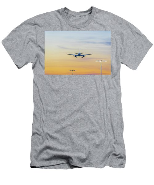 Sunset Flight Men's T-Shirt (Slim Fit) by Ross G Strachan