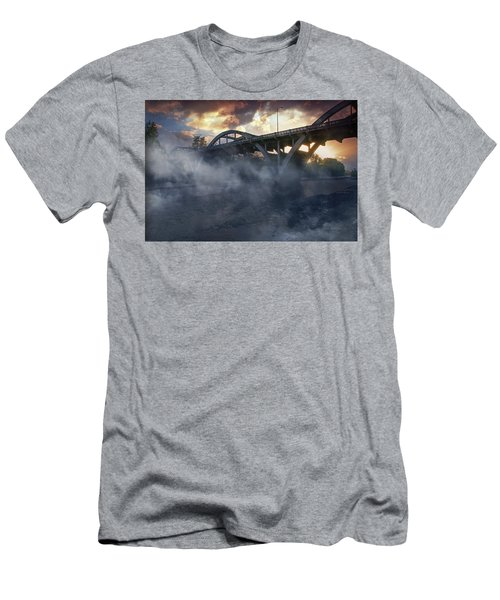Sunset Fog At Caveman Bridge Men's T-Shirt (Athletic Fit)