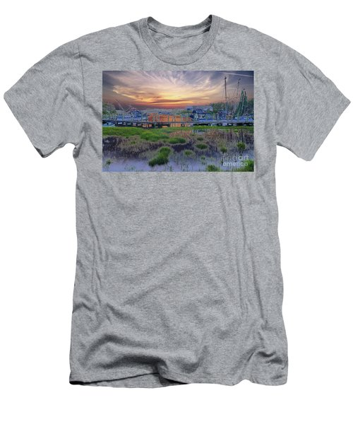 Sunset Harbor Dream Men's T-Shirt (Athletic Fit)