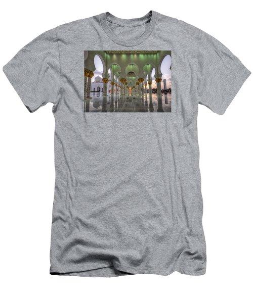Sunset Hindu Temple Men's T-Shirt (Slim Fit) by John Swartz