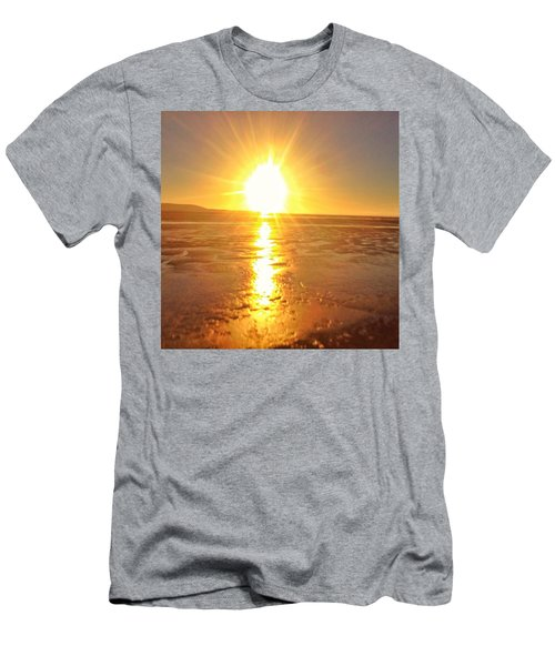 Sunset In College. #sunset  #sun Men's T-Shirt (Athletic Fit)