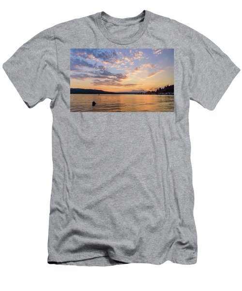 Sunset In Lake Sammamish Men's T-Shirt (Athletic Fit)