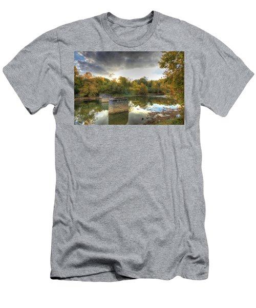 Men's T-Shirt (Slim Fit) featuring the digital art Sunset In Murphy by Sharon Batdorf