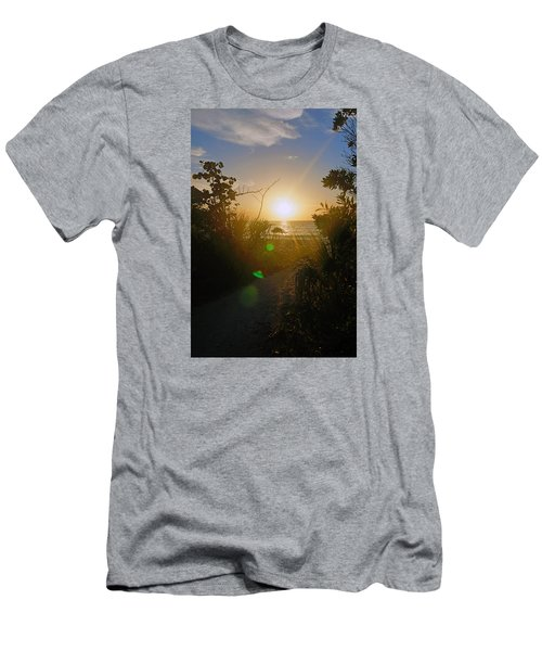 Sunset In Naples At Barefoot Beach Men's T-Shirt (Athletic Fit)