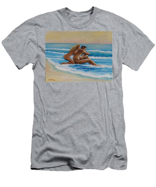 Sunset In The Beach Men's T-Shirt (Athletic Fit)
