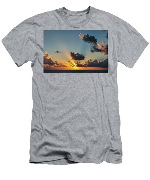 Sunset In The Caribbean Sea Men's T-Shirt (Athletic Fit)