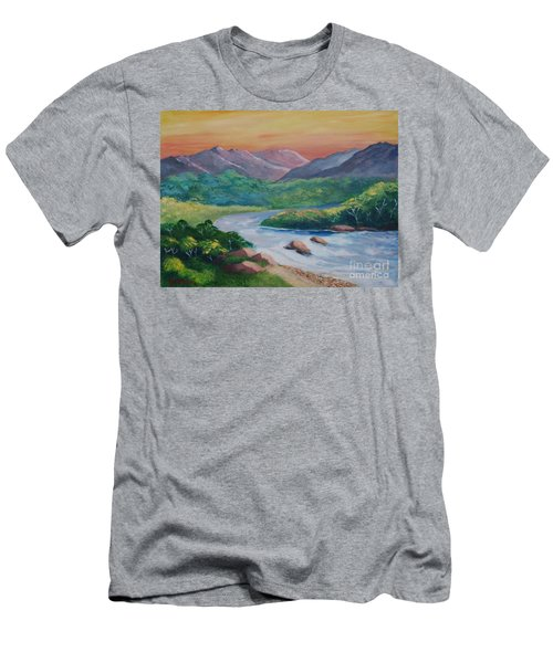 Sunset In The River Men's T-Shirt (Athletic Fit)