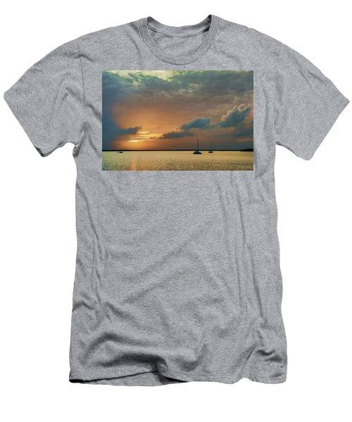 Sunset, Key Largo Men's T-Shirt (Slim Fit) by Dana Sohr