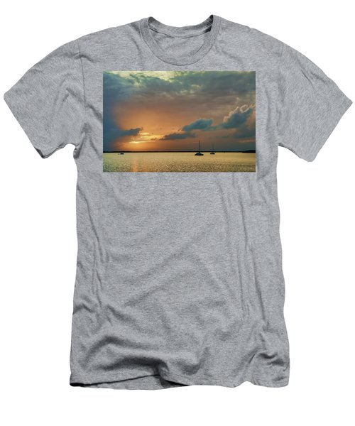 Sunset, Key Largo Men's T-Shirt (Athletic Fit)