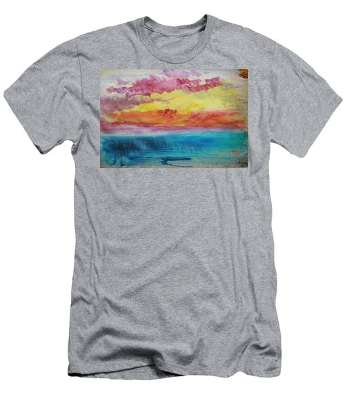 Sunset Lagoon Men's T-Shirt (Athletic Fit)