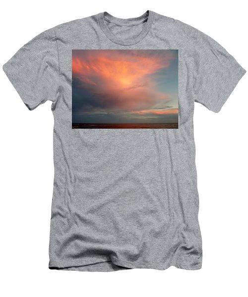 Sunset Moonrise Men's T-Shirt (Athletic Fit)