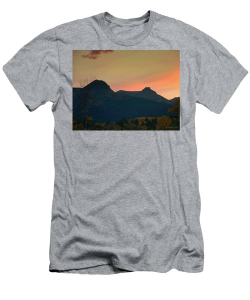 Sunset Mountain Silhouette Men's T-Shirt (Slim Fit)