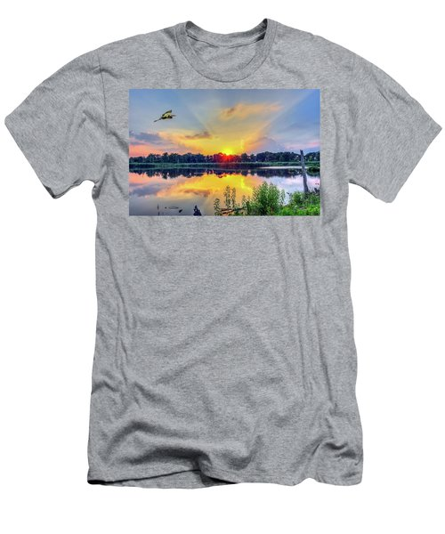 Sunset On A Chesapeake Bay Pond Men's T-Shirt (Athletic Fit)