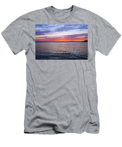 Sunset On Barnegat Bay I - Jersey Shore Men's T-Shirt (Athletic Fit)