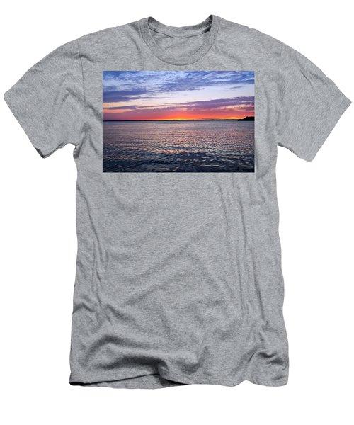 Sunset On Barnegat Bay I - Jersey Shore Men's T-Shirt (Athletic Fit)