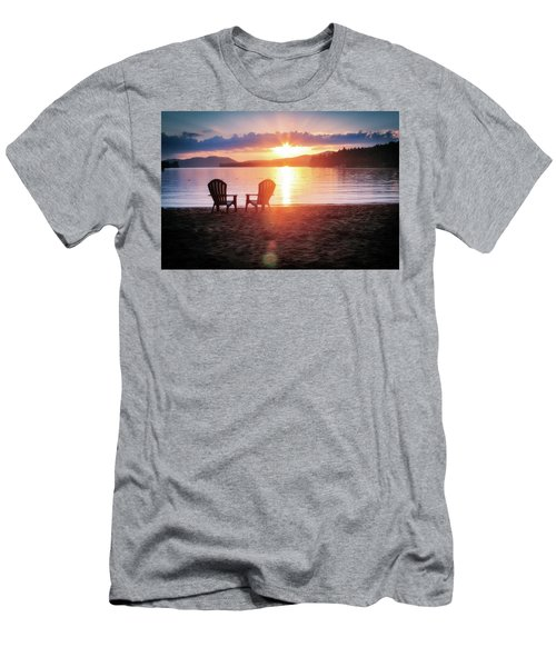 Sunset On Fourth Lake Men's T-Shirt (Athletic Fit)