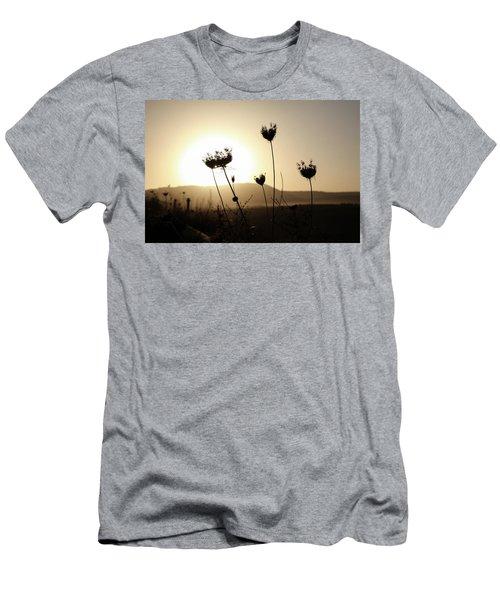 Sunset On Galilee Road Men's T-Shirt (Slim Fit) by Yoel Koskas