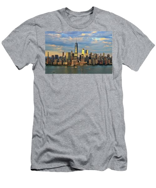 Sunset On Lower Manhattan Men's T-Shirt (Athletic Fit)
