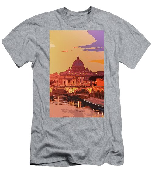 Sunset On Rome The Eternal City Men's T-Shirt (Athletic Fit)