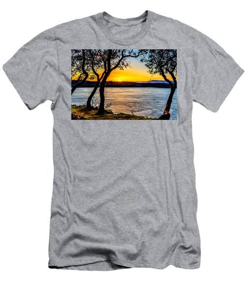 Sunset On Tacoma Narrows Men's T-Shirt (Athletic Fit)