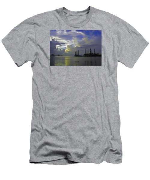 Sunset On The Harbor Men's T-Shirt (Athletic Fit)