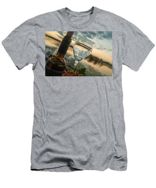 Sunset On The Lake Men's T-Shirt (Slim Fit) by Pamela Williams