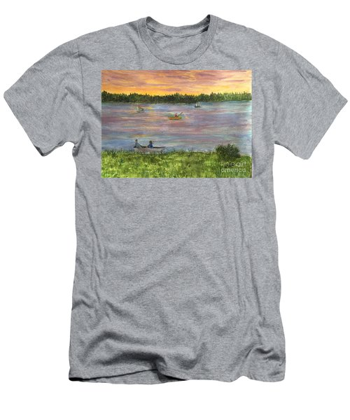 Sunset On The Merrimac River Men's T-Shirt (Athletic Fit)