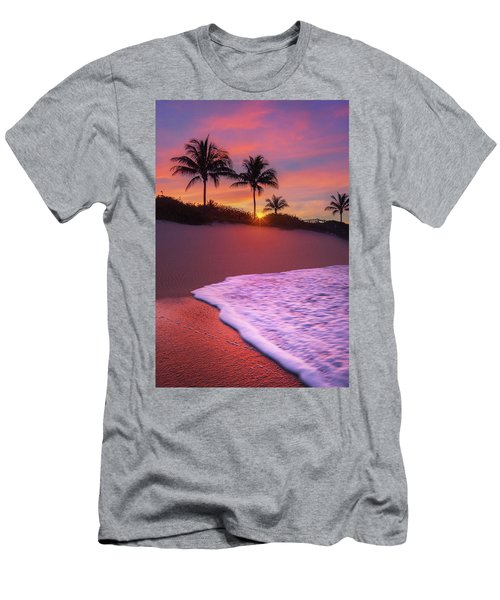 Sunset Over Coral Cove Park In Jupiter, Florida Men's T-Shirt (Athletic Fit)