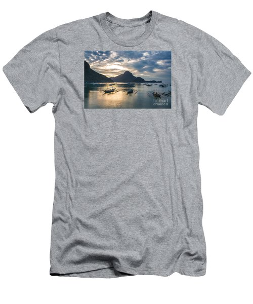 Sunset Over El Nido Bay In Palawan, Philippines Men's T-Shirt (Athletic Fit)