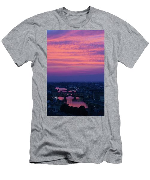 Sunset Over Florence Men's T-Shirt (Athletic Fit)