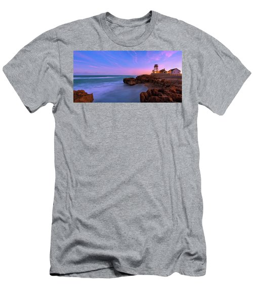Sunset Over House Of Refuge Beach On Hutchinson Island Florida Men's T-Shirt (Athletic Fit)