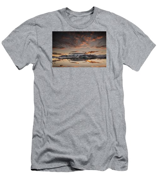 Men's T-Shirt (Slim Fit) featuring the photograph Sunset Over Jokulsarlon Lagoon, Iceland by Chris McKenna