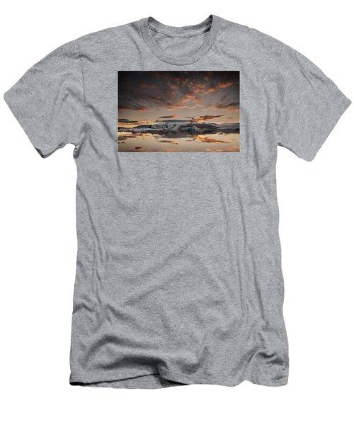 Sunset Over Jokulsarlon Lagoon, Iceland Men's T-Shirt (Athletic Fit)