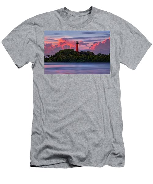 Sunset Over Jupiter Lighthouse, Florida Men's T-Shirt (Athletic Fit)