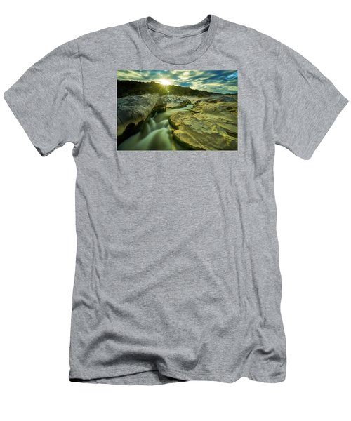 Sunset Over The Cascade Men's T-Shirt (Athletic Fit)