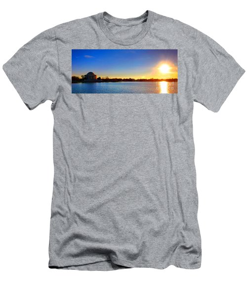Sunset Over The Jefferson Memorial  Men's T-Shirt (Athletic Fit)