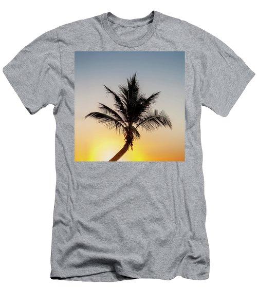Men's T-Shirt (Slim Fit) featuring the photograph Sunset Palm by Az Jackson