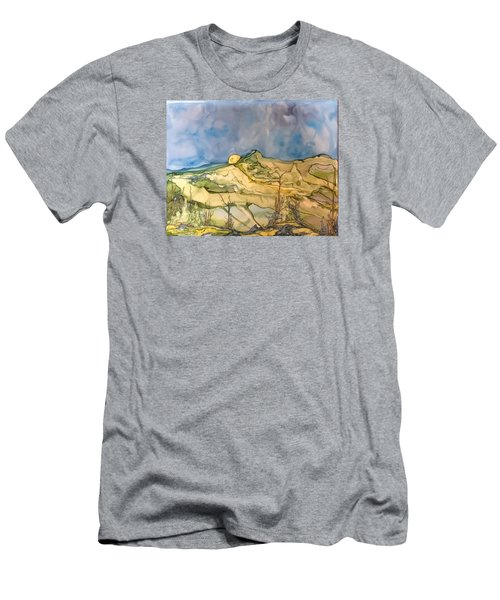 Men's T-Shirt (Slim Fit) featuring the painting Sunset by Pat Purdy