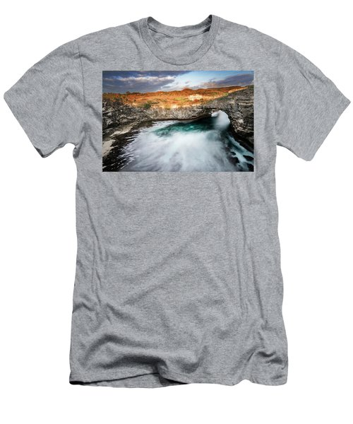 Men's T-Shirt (Athletic Fit) featuring the photograph Sunset Point In Broken Beach by Pradeep Raja Prints