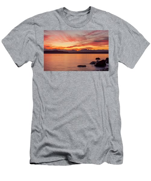 Sunset Puget Sound Men's T-Shirt (Athletic Fit)