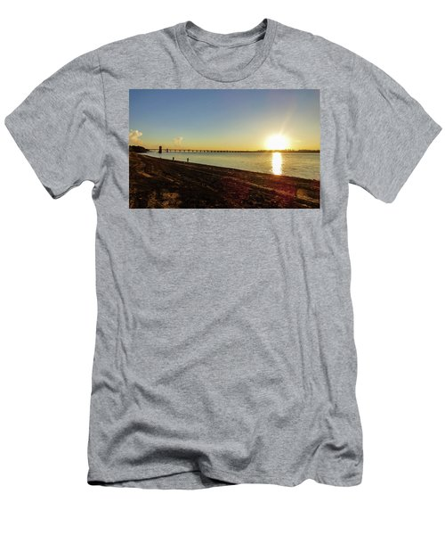 Sunset Reflecting On The Uruguay River Men's T-Shirt (Athletic Fit)
