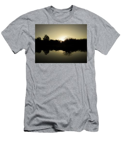 Sunset Reflecting On Water Men's T-Shirt (Athletic Fit)