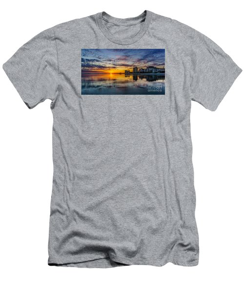 Sunset Reflection Men's T-Shirt (Slim Fit) by David Smith