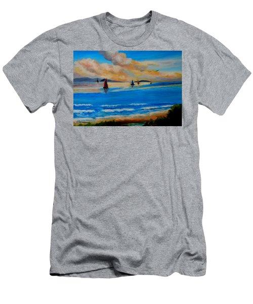 Sunset Sailing Men's T-Shirt (Athletic Fit)